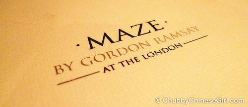 MAZE by Gordon Ramsay 1