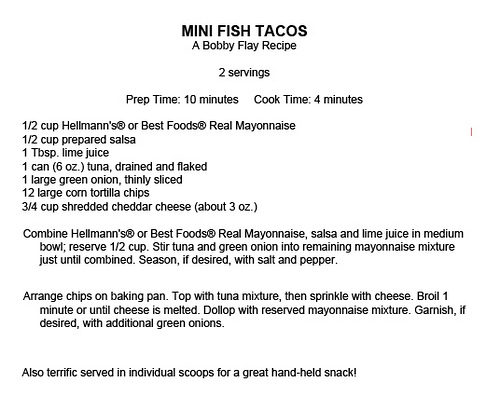 bobby flay mini fish tacos