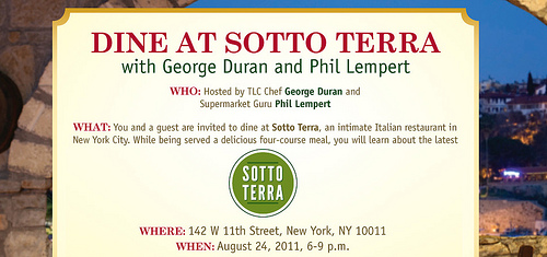 Sotto Terra Giveaway Aug24