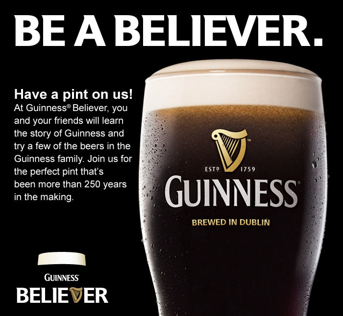 Free Guinness Tasting Chubby S New York Food Diary